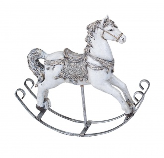 Schaukelpferd Nostalgie Weihnachts Deko Pferd Ross Artikel Figur Skulptur Tier