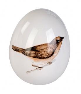 Deko Ei mit Vogel Design Keramik Osterei Osterdeko Dekoei Oster Deko Figur Eier