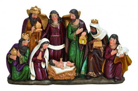 Krippenfiguren Block Heilige Familie Krippe Deko Figur Skulptur Engel König