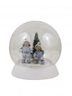 Deko Acryl Kugel LED Lichtkugel Leuchtkugel Winterkinder Tanne Schneekugel