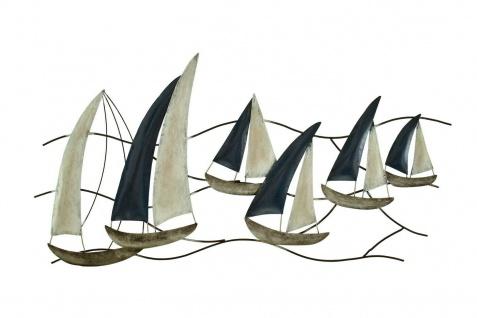 Wanddeko Schiff Metall Segelboot Segel Boot Maritim Deko Hänger Skulptur Figur