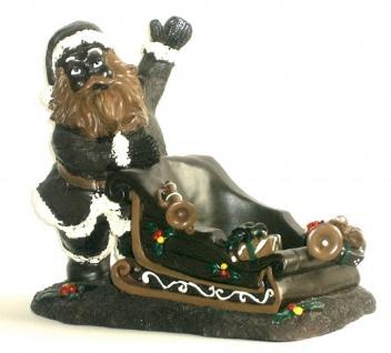 Deko Weihnachtsmann Figur Weihnachtsdeko Nikolaus Schoko Schlitten Glocke Tanne