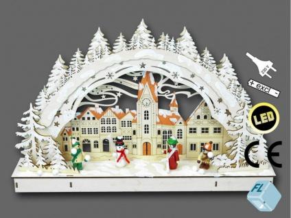 Schwibbogen LED Lichterbogen Stimmungsleuchter Fensterbild Holz Weihnachtsdeko - Vorschau
