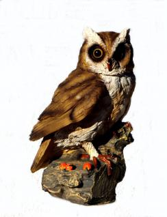 Eule Uhu Kauz Tierfigur Skulptur Deko Artikel Garten Tier Vogel Figur Statue