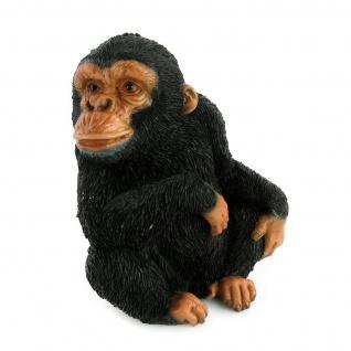 Schimpanse Affe Deko Garten Afrika Tier Figur Skulptur Statue Gorilla Orang Uta
