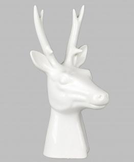 Hirsch Büste Geweih Kopf Deko Tier Figur Skulptur Statue Elch Reh Rentier Bock
