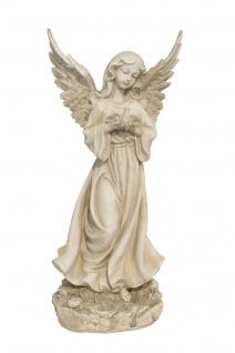 Engel Schutzengel Vogel Taube Deko Figur Skulptur Putte Büste Grabdeko Statue