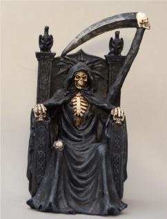 Gothic Deko Figur Sensemann Skelett Skull Reaper Horror Totenkopf Todesengel