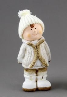 Winterkinder Winterkind Deko Junge Mädchen Kinder Weihnachts Figur Mütze Kind