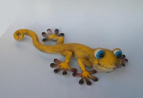 Gecko Lurch Eidechse Echse Drache Deko Tier Figur Skulptur Wanddeko Wandbild