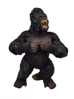 Gorilla Affe Silberrücken Deko Afrika Tier Garten Figur Skulptur Statue stehend