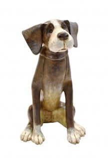 Spardose Hund Deko Tier Figur Skulptur Spartopf Sparbüchse Sparschwein Stopfen