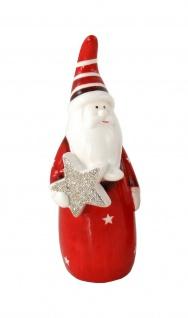 Weihnachtsmann Nikolaus Keramik Deko Figur Skulptur Stern Schneemann Engel