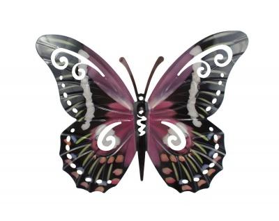 Schmetterling Metall Wandbild Wanddeko Deko Hänger Deko Tier Figur Wandhänger