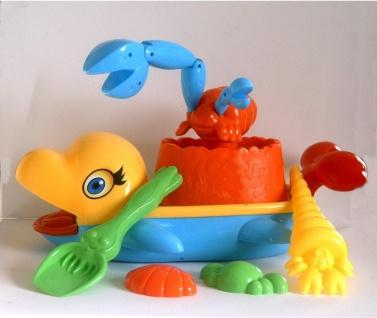 Beach Boot Delfin mit Sandspielzeug 6 tlg Eimergarnitur