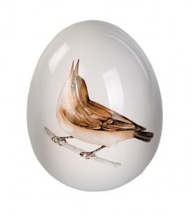 Deko Ei Keramik mit Vogel Design Osterdeko Osterei Dekoei Oster Deko Figur Eier