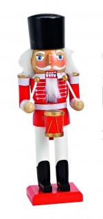 Nussknacker Trommler Holz Deko Figur Weihnachtsdeko Skulptur Holznussknacker