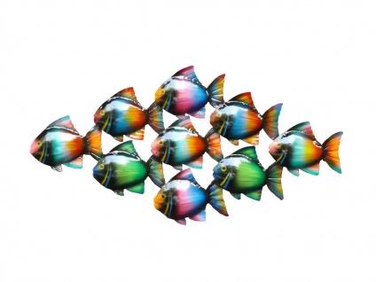 Wanddeko Fisch Zierfisch Wandbild Metall Deko Tier Figur Wandschmuck Wand Hänger