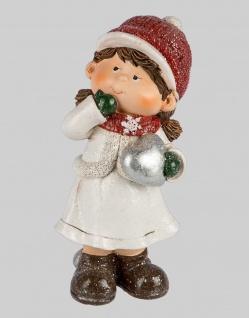 Winterkinder Winterkind mit Herz Mädchen Deko Kinder Figur Weihnachtsdeko Statue