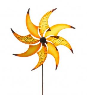 Gartenstecker Windmühle Windrad Metall Blume Garten Stecker Deko Figur Windspiel
