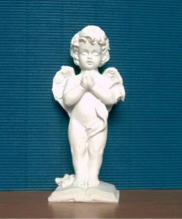 Engel Dekoengel Schutzengel Engelfigur Skulptur betend weiss matt Figur Deko
