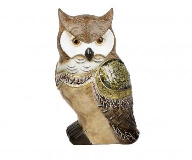 Eule Uhu Kauz Deko Garten Tier Vogel Figur Skulptur Dekofigur Statue Mosaik