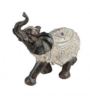 Elefant Skulptur Deko Artikel Garten Wild Tier Figur Afrika Statue Elefanten