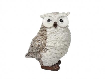 Eule Uhu Kauz Deko Garten Tier Vogel Figur Skulptur Schneeeule Schleiereule