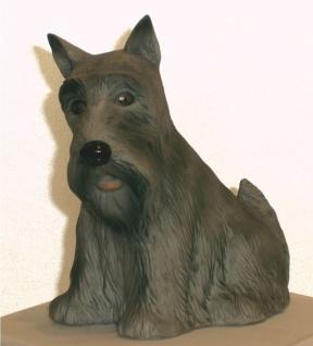 Hund Figur Hundefigur Tierfigur Deko Schnauzer Skulptur