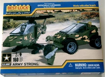 BEST-LOCK Bausteine Set U.S.Army mit Fahrzeug Hubschrauber Figuren Zubehör
