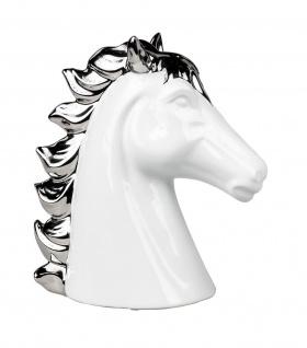 Pferd Kopf Büste Deko Objekt Artikel abstrakte Skulptur Figur Hengst Ross Rappe