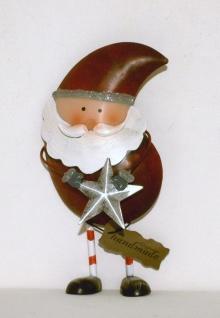 Weihnachtsdeko Aus Metall.Weihnachtsmann Mit Stern Nikolaus Metall Deko Figur Weihnachtsdeko Skulptur