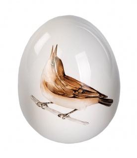 Deko Ei mit Vogel Design Keramik Osterdeko Osterei Dekoei Oster Deko Figur Eier