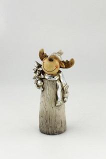 Elch Rentier Deko Figur Weihnachtsdeko Hirsch Reh Skulptur Tierfigur Dekotier