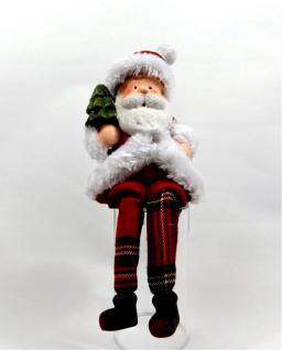 Weihnachtsmann Nikolaus Kantenhocker Weihnachts Deko Figur Skulptur Kantensitzer