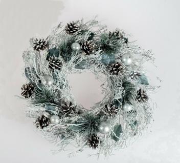 Türkranz Adventskranz Weihnachtskranz Deko Winter Kranz Tischkranz Wanddeko