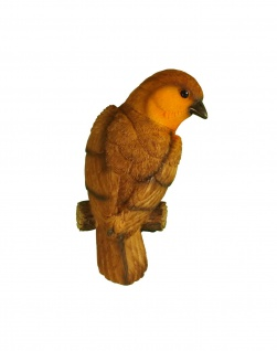 Wanddeko Rotkehlchen Vogel Skulptur Deko Garten Tier Spatz Meise Figur Wandbild