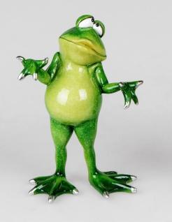 Frosch tut mir Leid Kröte Gecko Deko Tier Figur Skulptur Froschkönig Laubfrosch