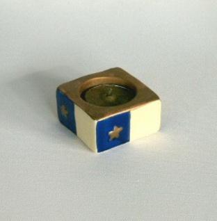 Teelichthalter Keramik Kerzenhalter inkl. Teelicht Leuchter Deko Artikel Stern - Vorschau