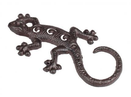 Gecko Eidechse Salamander Lurch Deko Tier Figur Echse Drachen Skulptur Statue