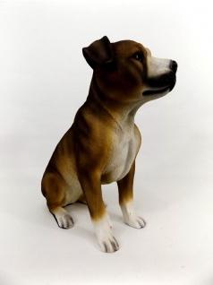 Staffordshire Bull Terrier Hund Deko Garten Tier Figur Skulptur Statue Wildhund