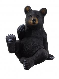 Bär Schwarzbär Braunbär Grizzlybär Deko Garten Tier Figur Teddy Skulptur Statue