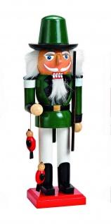 Nussknacker Jäger Holz Deko Figur Weihnachtsdeko Skulptur Holznussknacker Vogel