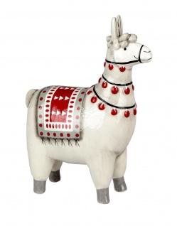 Deko Lama Alpaka Kamel Tier Figur Garten Skulptur Statue Rentier Hirsch Büste