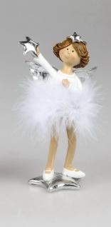 Engel Deko Schutzengel Federn Stern Herz Skulptur Figur Elfe Fee Weihnachtsengel