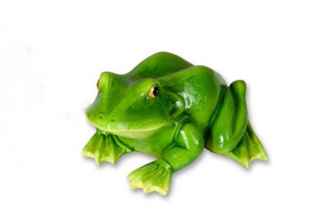 Frosch Kröte Unke Gecko Lurch Garten Deko Tier Figur Skulptur Froschkönig Statue