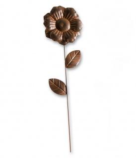 Gartenstecker Metall Blume Blüte Beet Stecker Rosenkugel Garten Deko Figur Zweig