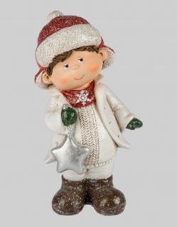 Winterkinder Winterkind mit Stern Junge Deko Kinder Figur Weihnachtsdeko Statue