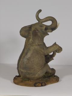 Elefant mit Baby Tierfigur Skulptur Deko Garten Tier Figur Afrika Statue - Vorschau 4