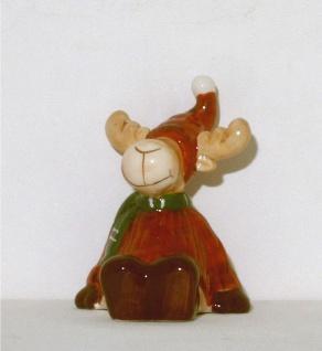 Elch Hirsch Rentier Keramik Deko Artikel Weihnachtdeko Figur Skulptur Reh Tier